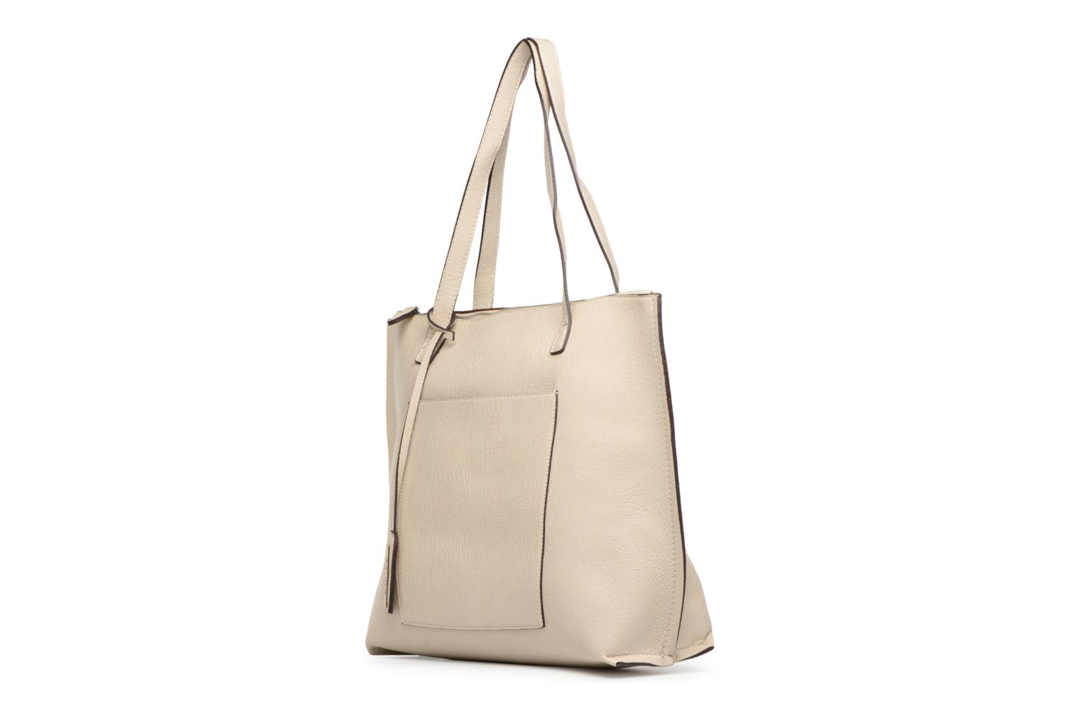 Handtassen Street Level Tote with top zipper Beige model