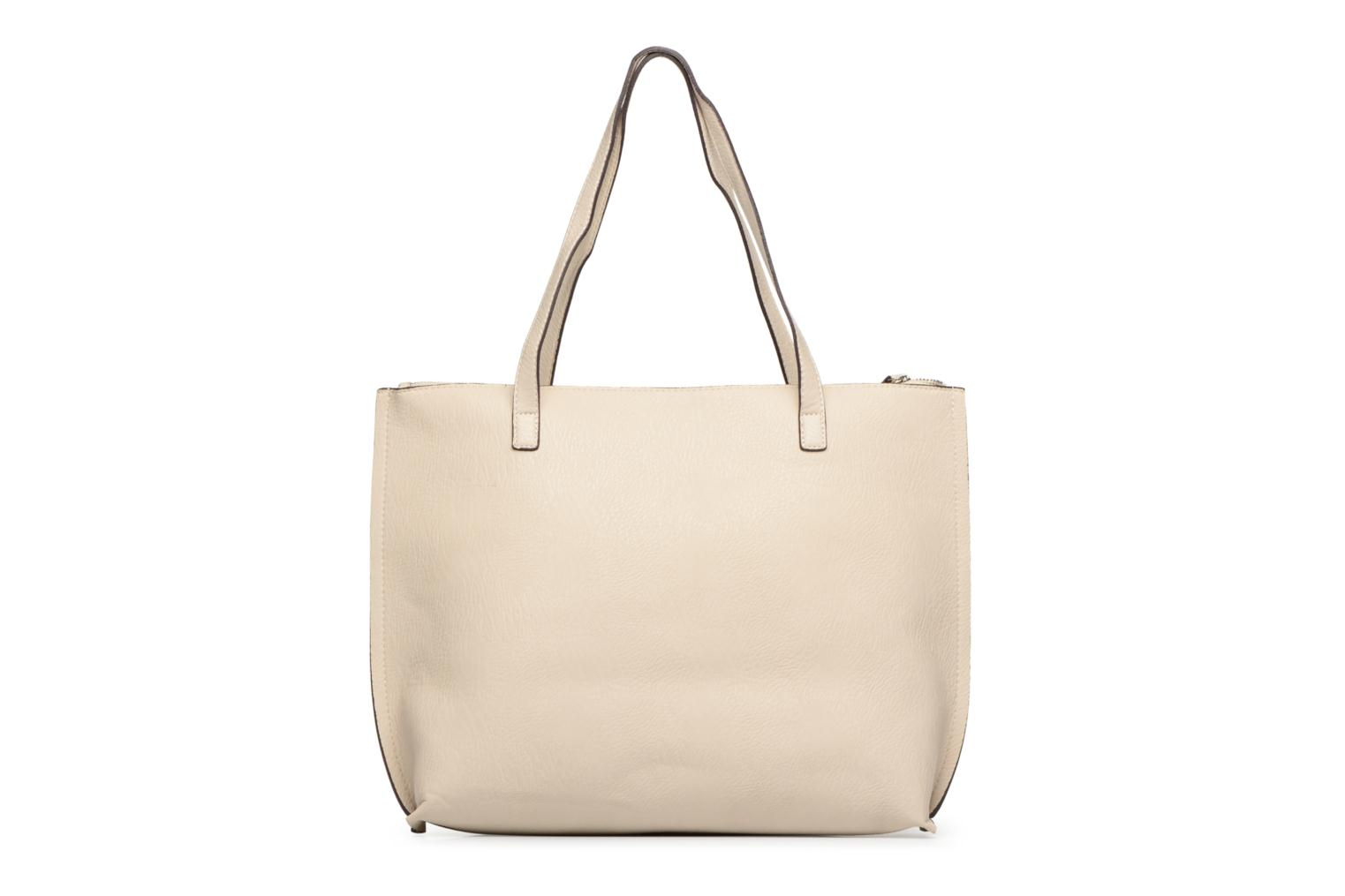 Handtassen Street Level Tote with top zipper Beige voorkant