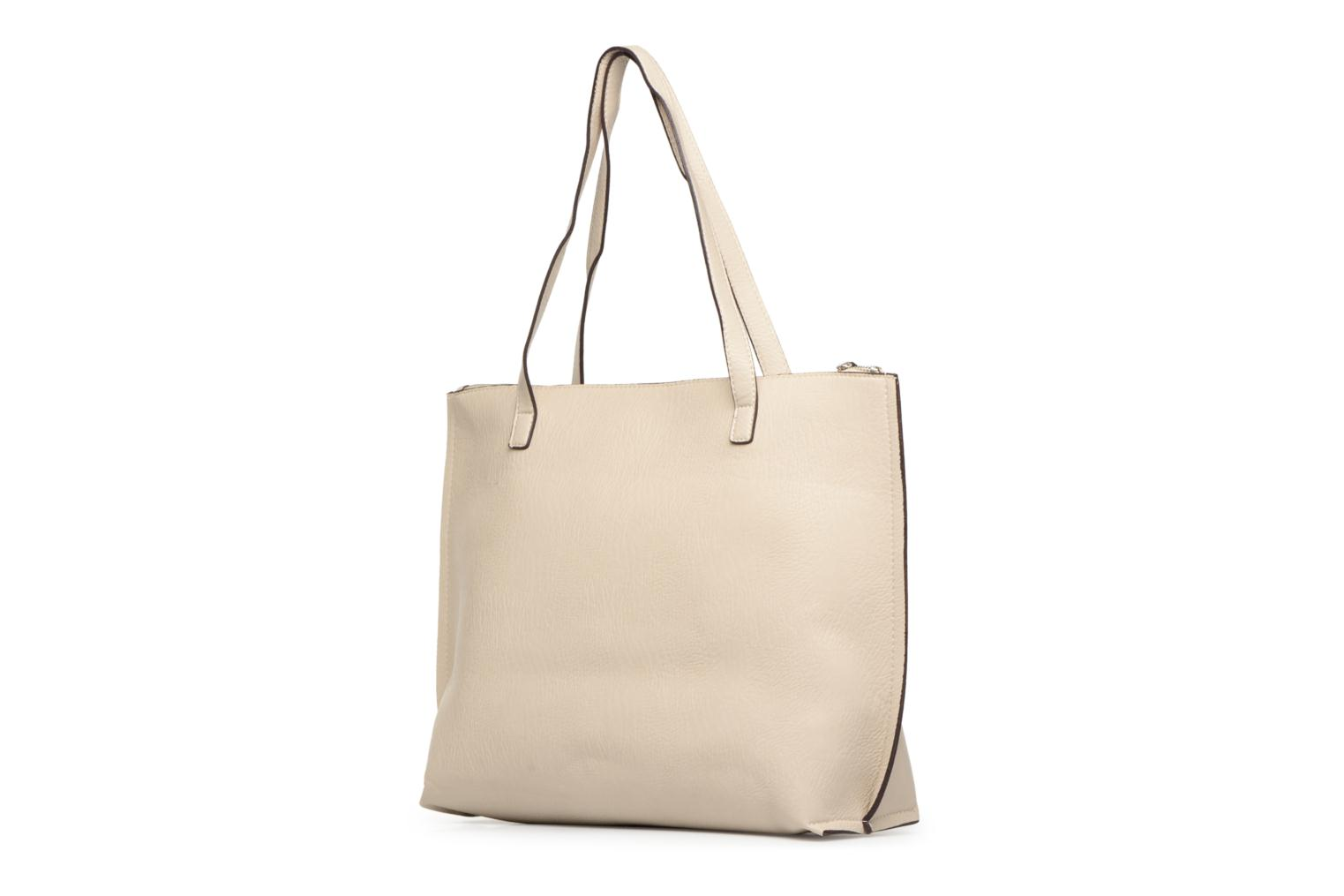 Handtassen Street Level Tote with top zipper Beige rechts