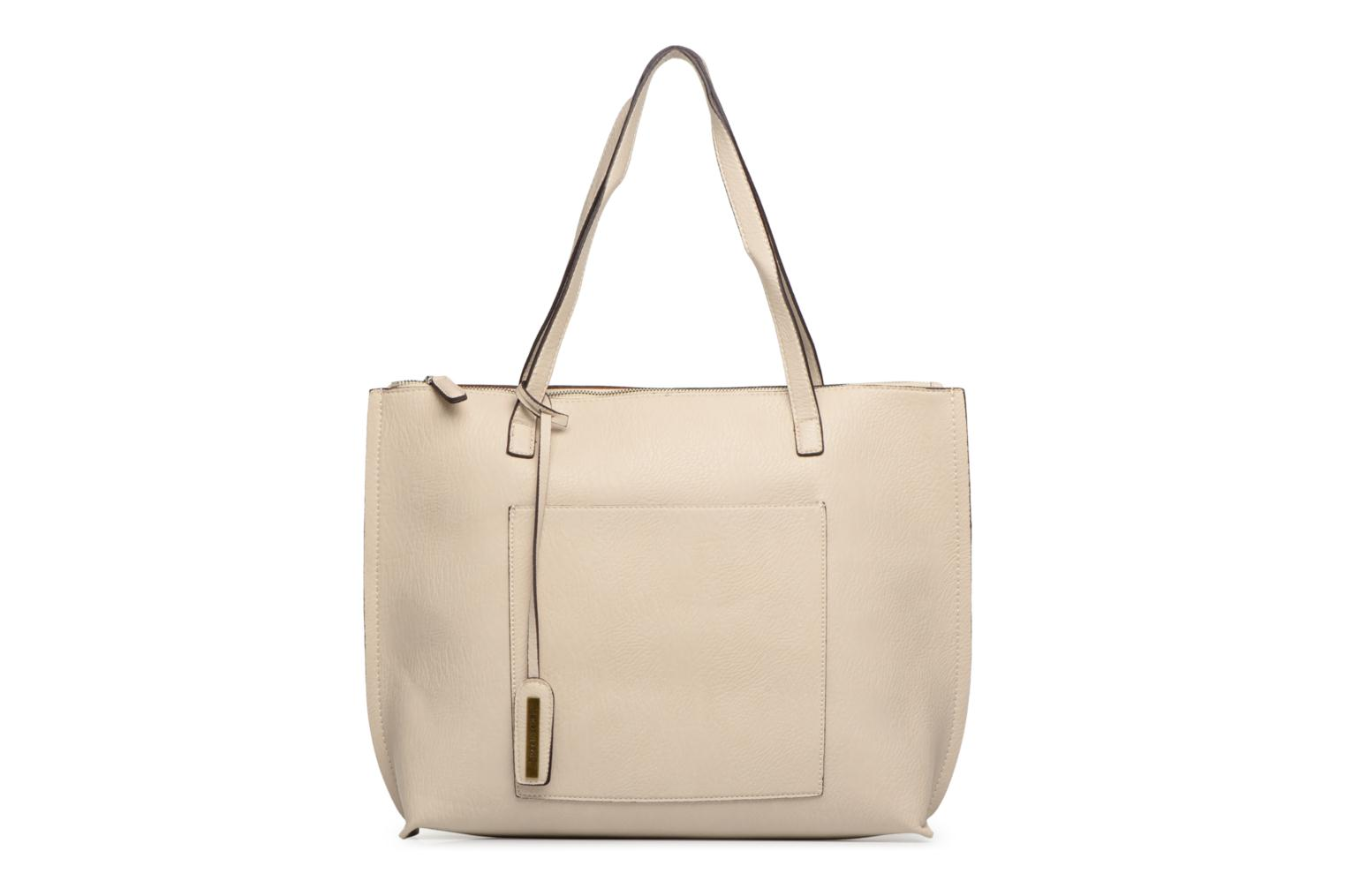 Handtassen Street Level Tote with top zipper Beige detail