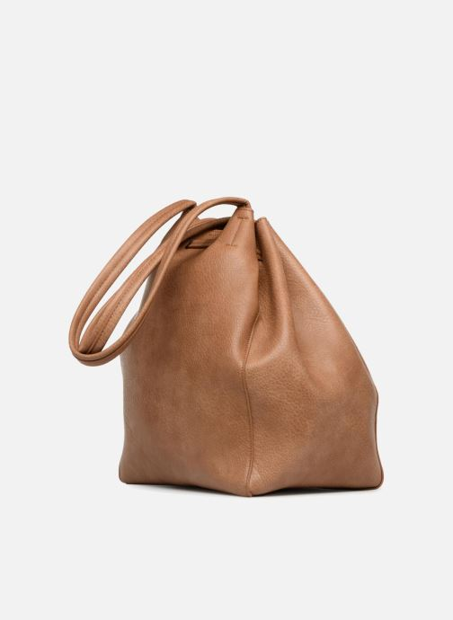 Sacs à main Street Level Tote with front tassel drawstring Marron vue droite