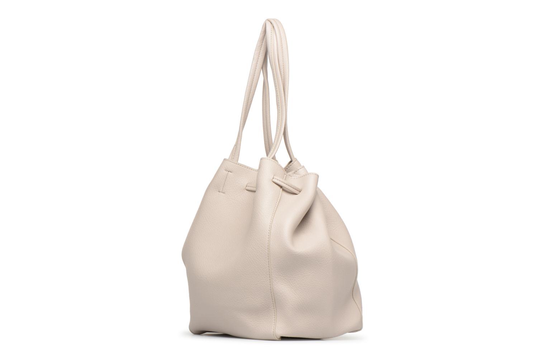 Handtaschen Street Level Tote with front tassel drawstring grau ansicht von rechts