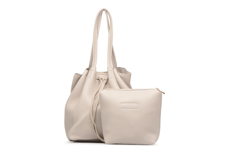 Handtaschen Street Level Tote with front tassel drawstring grau ansicht von links