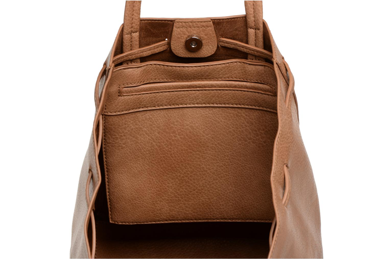 drawstring front Level tassel with Street Tote Tan 7vw1PqXSn