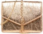 Shoulder bag w/chain and tassel detail