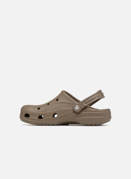 Mules et sabots Crocs Feat Marron vue face