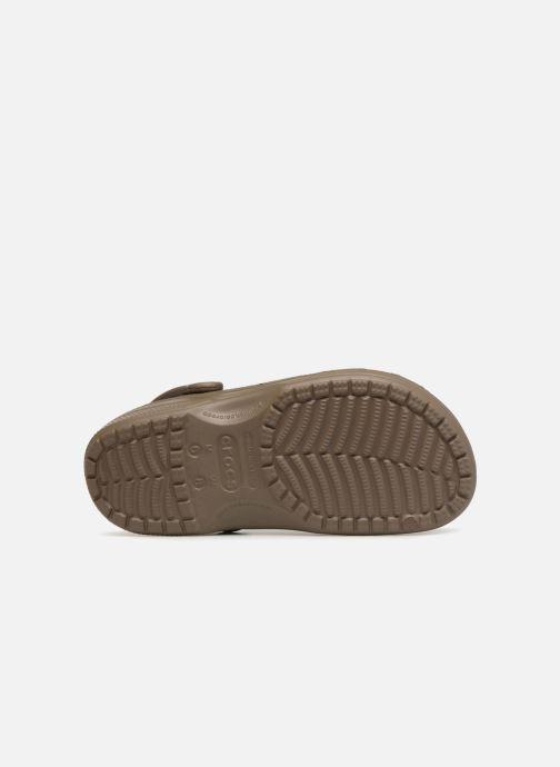 Mules et sabots Crocs Feat Marron vue haut