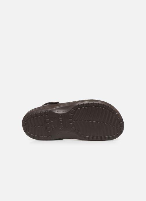 Sandali e scarpe aperte Crocs Ralen Lined Clog Marrone immagine dall'alto