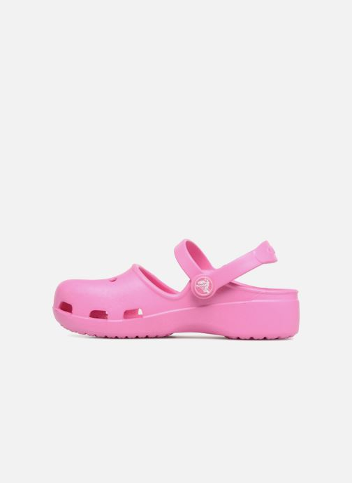 Sandales et nu-pieds Crocs KarinClogK Rose vue face