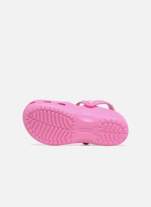 Sandales et nu-pieds Crocs KarinClogK Rose vue haut