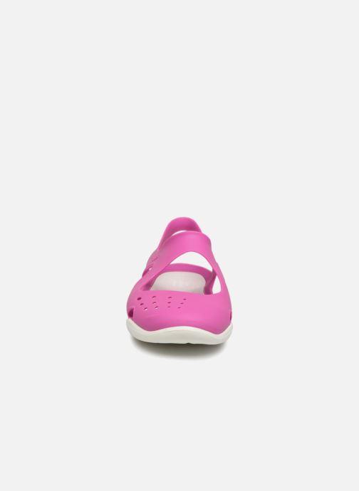 Sandales et nu-pieds Crocs Swiftwater Wave W Violet vue portées chaussures