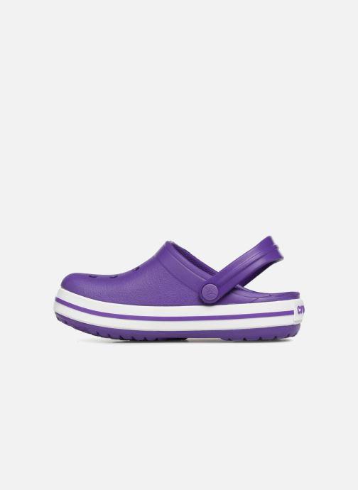 Sandales et nu-pieds Crocs Croc band Clog K Violet vue face