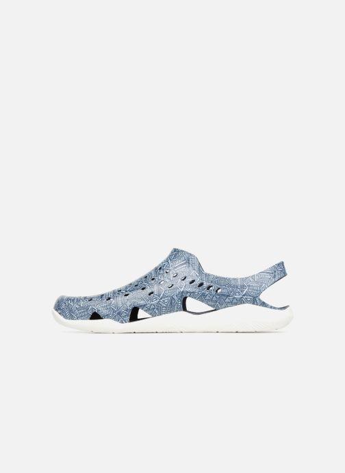 Sandales et nu-pieds Crocs Swift Wave Grph M Bleu vue face
