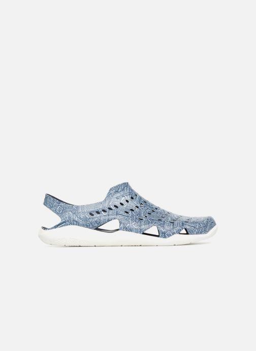 Sandales et nu-pieds Crocs Swift Wave Grph M Bleu vue derrière