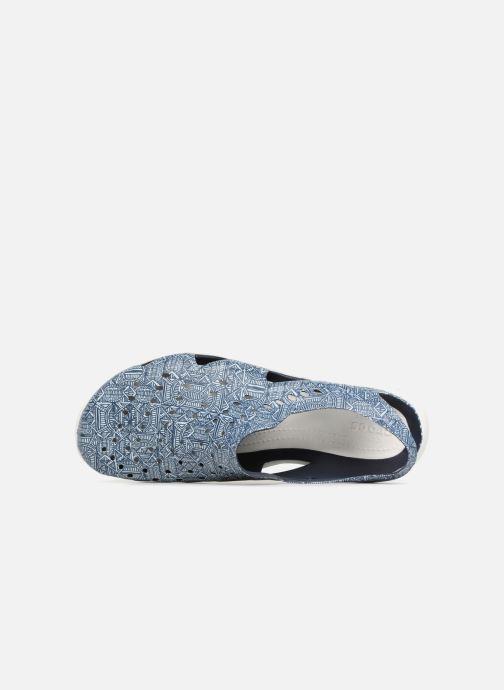 Sandales et nu-pieds Crocs Swift Wave Grph M Bleu vue gauche