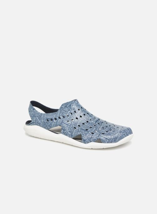 Sandales et nu-pieds Crocs Swift Wave Grph M Bleu vue détail/paire