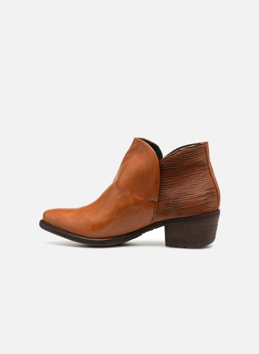 Ankle boots Khrio Polacco 2405 Brown front view