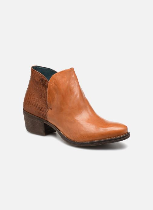 Ankle boots Khrio Polacco 2405 Brown detailed view/ Pair view