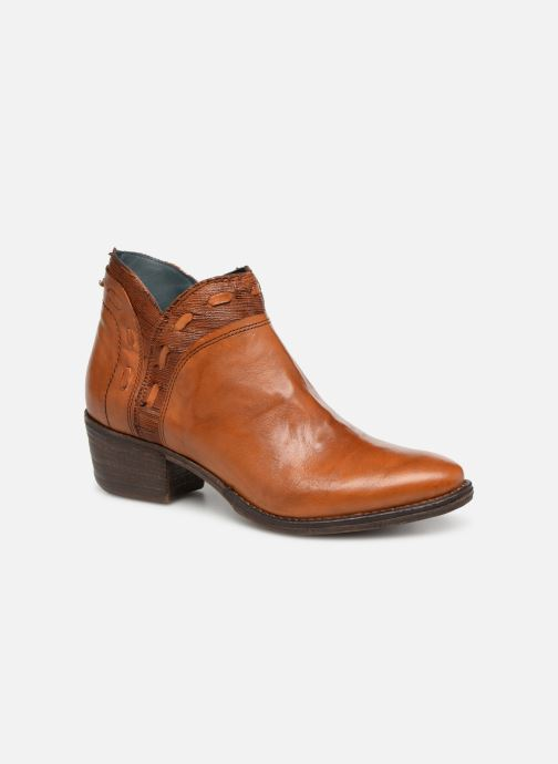 Ankle boots Khrio Polaco 2402 Brown detailed view/ Pair view