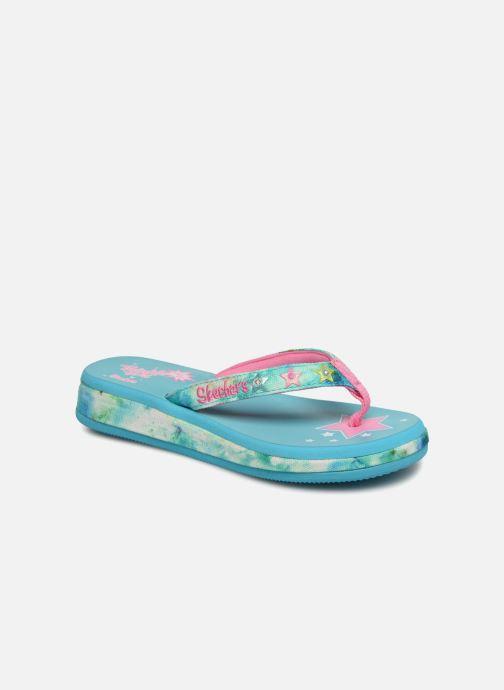 Flip flops Skechers Sunshines/ Hippie skippie J Blue detailed view/ Pair view