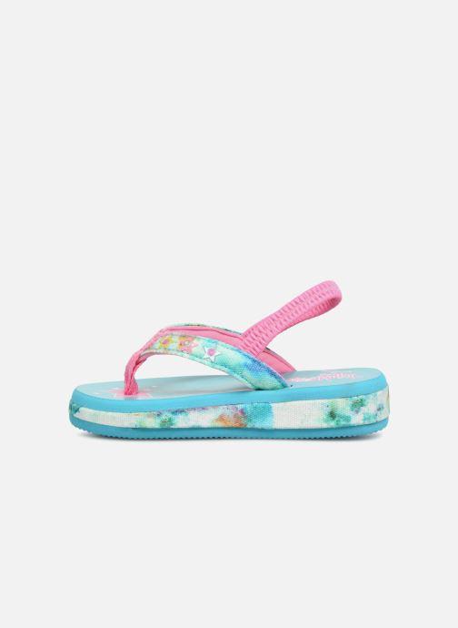 Sandales et nu-pieds Skechers Sunshines/ Hippie skippie Bleu vue face