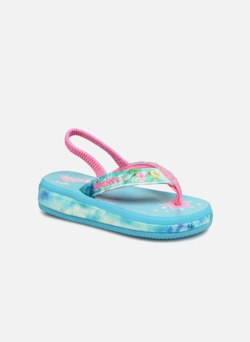 Sandales et nu-pieds Skechers Sunshines/ Hippie skippie Bleu vue détail/paire