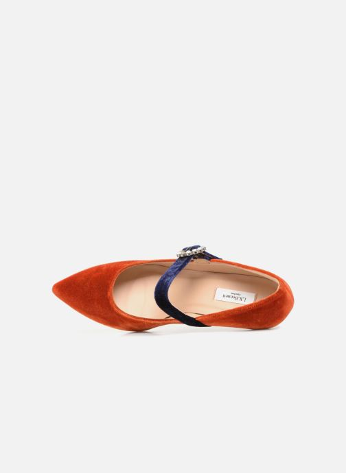 Zapatos de tacón L.K. Bennett Eira Naranja vista lateral izquierda