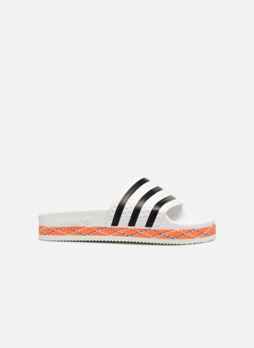 Mules et sabots adidas originals Adilette New Bold W Blanc vue derrière