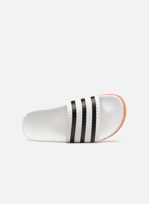 Zuecos adidas originals Adilette New Bold W Blanco vista lateral izquierda