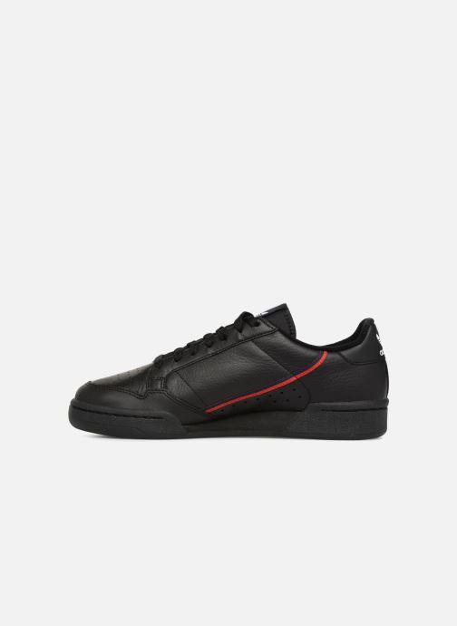 Sneakers adidas originals Continental 80 Zwart voorkant