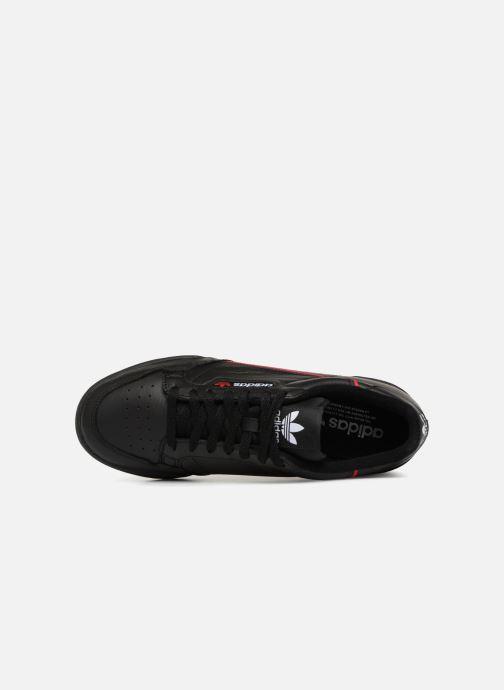 Sneaker adidas originals Continental 80 schwarz ansicht von links