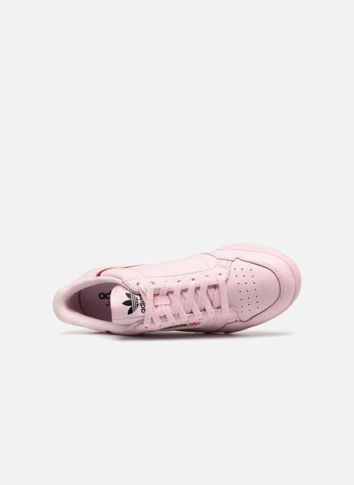 Sneaker adidas originals Continental 80 rosa ansicht von links