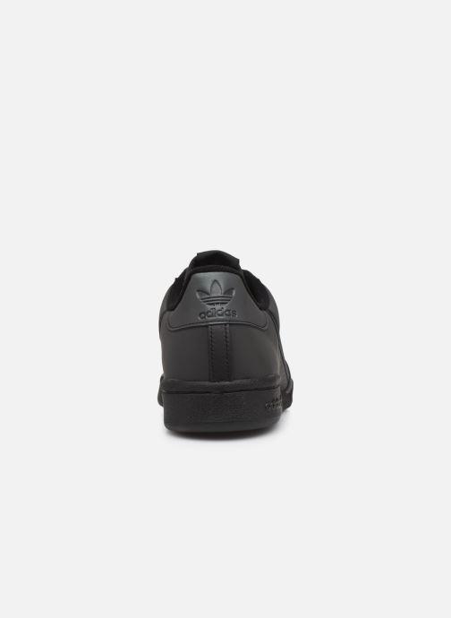 Baskets adidas originals Continental 80 Noir vue droite