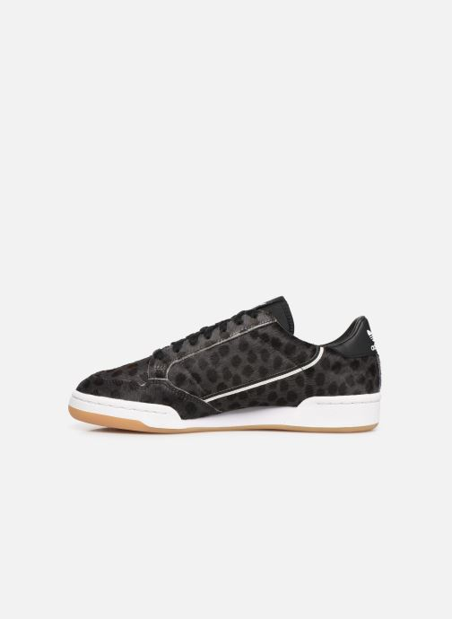 Sneaker adidas originals Continental 80 schwarz ansicht von vorne