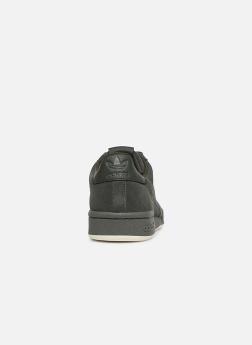 Baskets adidas originals Continental 80 Vert vue droite