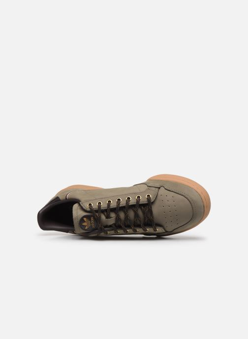 Baskets adidas originals Continental 80 Vert vue gauche