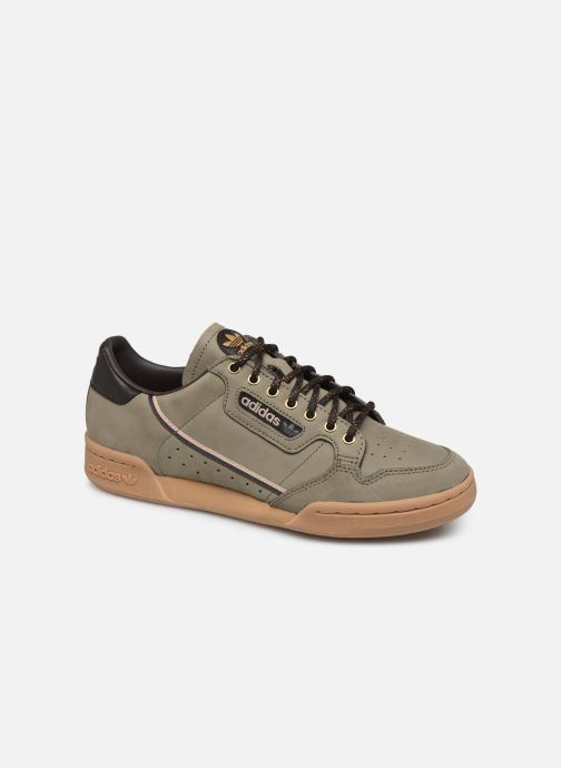 Baskets adidas originals Continental 80 Vert vue détail/paire