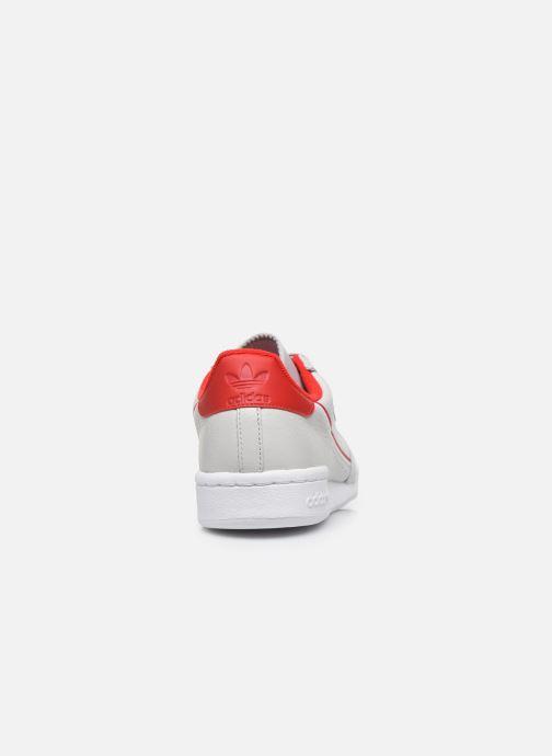 Baskets adidas originals Continental 80 Gris vue droite