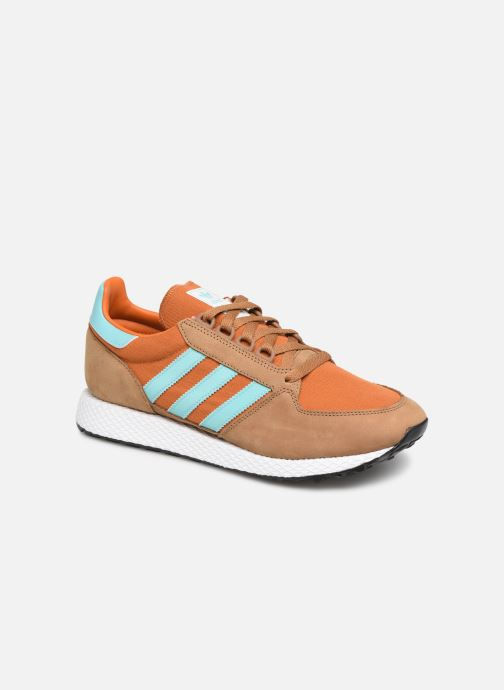 Baskets adidas originals Forest Grove Marron vue détail/paire