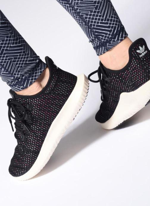 Sneaker adidas originals Tubular Shadow Ck W rosa ansicht von unten / tasche getragen