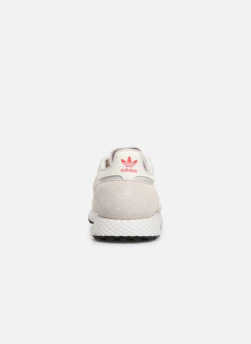 Trainers adidas originals Forest Grove W White view from the right