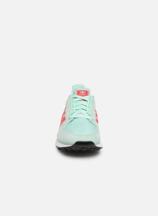 Sneaker adidas originals Forest Grove W blau schuhe getragen