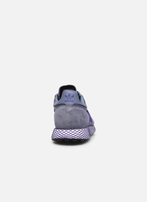 Baskets adidas originals Forest Grove W Bleu vue droite