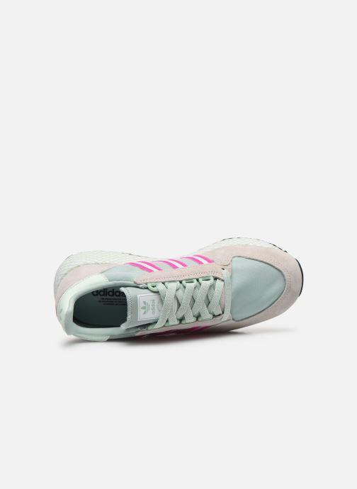 Sneaker adidas originals Forest Grove W grün ansicht von links