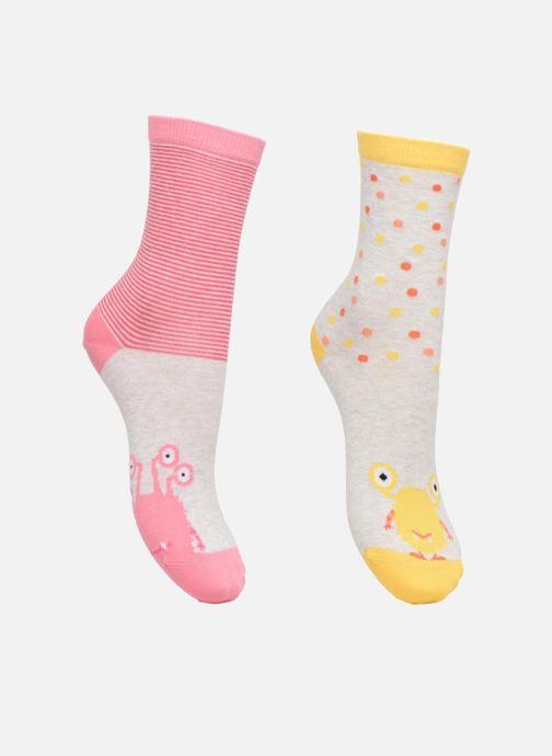 Socken & Strumpfhosen Sarenza Wear Chaussette fille monstre Pack de 2 coton mehrfarbig detaillierte ansicht/modell