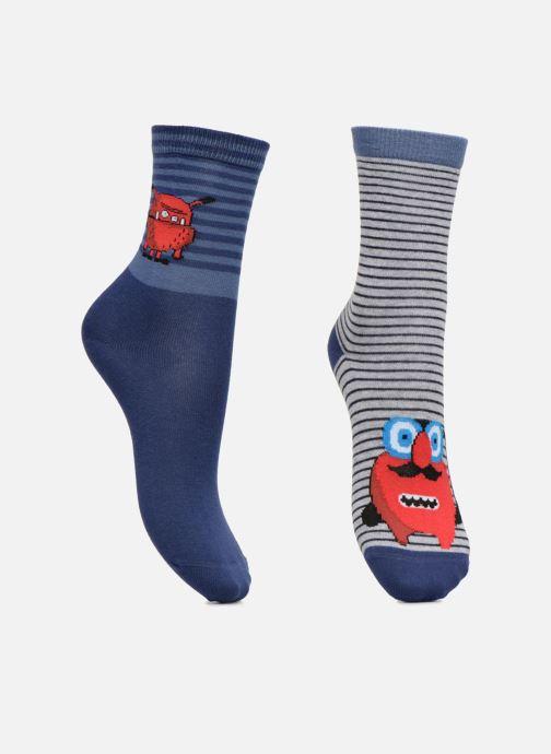 Socks & tights Sarenza Wear Chaussette Garçon Monstre Rouge pack de 2 coton Multicolor detailed view/ Pair view
