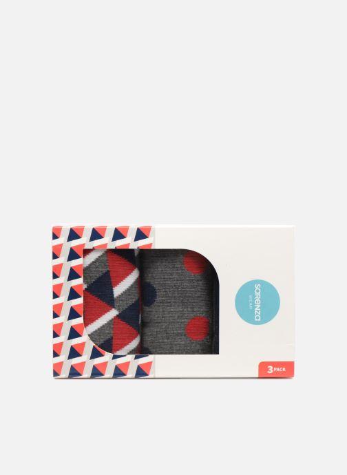Chaussettes et collants Sarenza Wear Coffret de 3 Chaussettes Homme Noël Multicolore vue portées chaussures