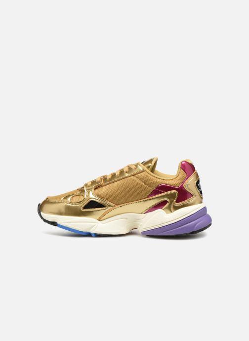 Sneakers adidas originals Falcon W Goud en brons voorkant