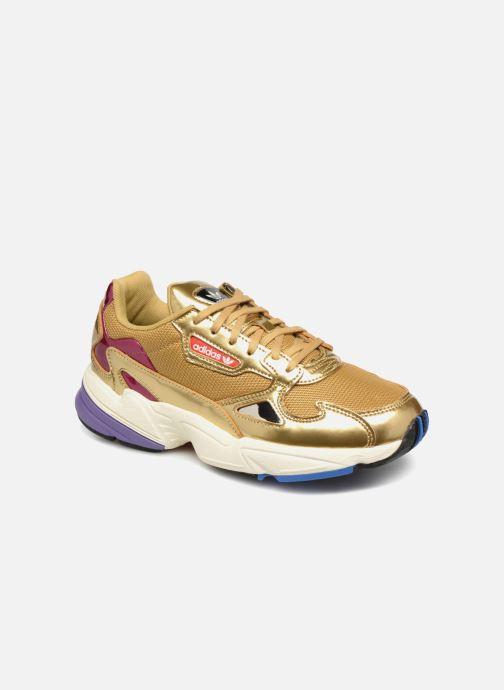 Sneakers adidas originals Falcon W Guld og bronze detaljeret billede af skoene