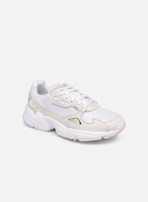 Baskets adidas originals Falcon W Blanc vue détail/paire